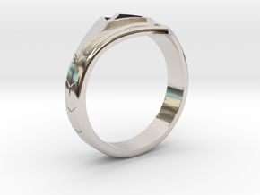 Women's Astroid Ring #1 in Rhodium Plated Brass