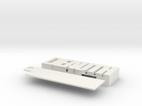Rpi 0 DEAUTH case in White Natural Versatile Plastic
