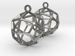Deltoidal Icositetrahedron Earrings in Natural Silver