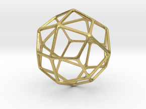 Deltoidal Icositetrahedron in Natural Brass: Medium