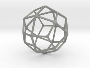 Deltoidal Icositetrahedron in Gray Professional Plastic: Medium