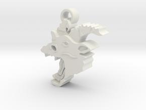 Jersey Devil keychain in White Natural Versatile Plastic
