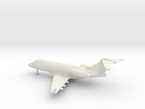 Bombardier Challenger 300 in White Natural Versatile Plastic: 1:350