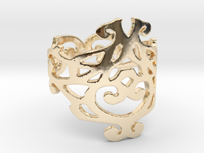 Elizabeth ring (Size 7) in 14k Gold Plated Brass
