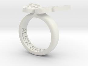 Alex Ring 25 in White Natural Versatile Plastic