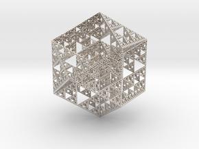 True Sierpiński Fractal in Platinum