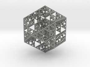 True Sierpiński Fractal in Gray Professional Plastic