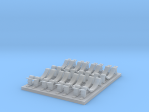 t-34 fuel holders 1 in Smooth Fine Detail Plastic