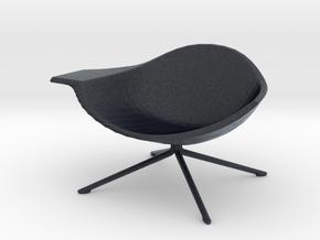 Miniature Low Lotus Chair - Artifort  in Black PA12: 1:12
