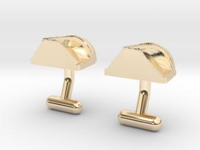Boba Fett Cufflinks in 14k Gold Plated Brass