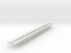 Double Track Trestle N (1:160) Ten Piles Bridge in White Natural Versatile Plastic