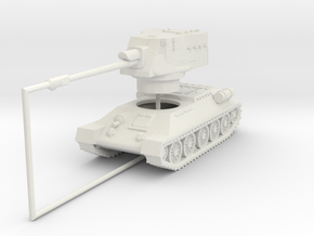 1/144 T-34-122 Egyptian SPG in White Natural Versatile Plastic