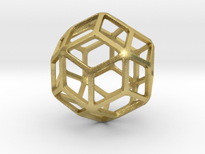 Rhombic Triacontahedron in Natural Brass: Small