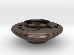Bowl CC43 in Polished Bronzed-Silver Steel