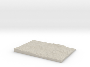 Model of Black Hill in Natural Sandstone
