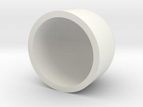 Dome 40mm (Flat Bottom) in White Natural Versatile Plastic