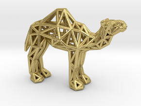Dromedary Camel (adult) in Natural Brass