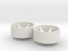 2x Llantas Mini-Z Delantera Offset 3 - 20mm in White Natural Versatile Plastic