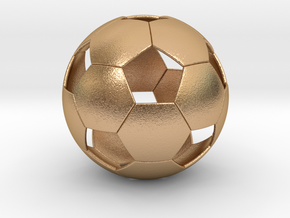 Soccer ball in Natural Bronze