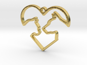Share the Love in Polished Brass