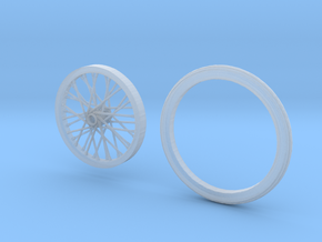 Drag wheel and tire in Smoothest Fine Detail Plastic