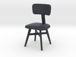 Miniature Thyia Chair - Roche Bobois in Black Professional Plastic: 1:12