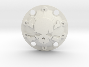 WPL 1/16th Skull Diff Cover in White Natural Versatile Plastic