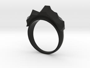 Mountain Ring in Black Premium Versatile Plastic: 6.5 / 52.75