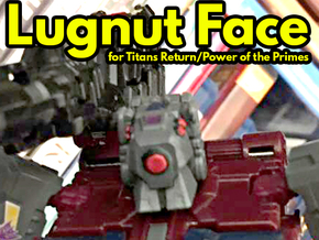 Lugnut Faceplate (Full) in Smooth Fine Detail Plastic
