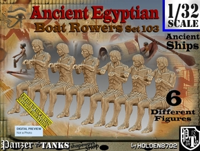 1/32 Ancient Egyptian Boat Rowers Set103 in White Natural Versatile Plastic