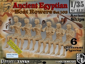 1/35 Ancient Egyptian Boat Rowers Set103 in Smooth Fine Detail Plastic