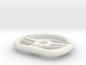Supercar steering wheel in White Natural Versatile Plastic