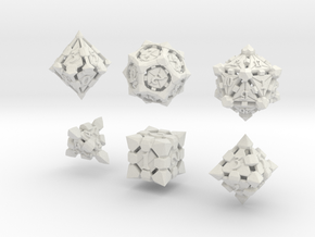 Fortress Dice Set  in White Natural Versatile Plastic