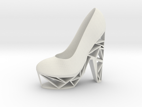 Left Triangle Heel in White Natural Versatile Plastic