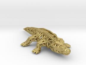 Nile Crocodile in Natural Brass
