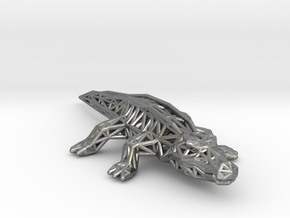 Nile Crocodile in Natural Silver