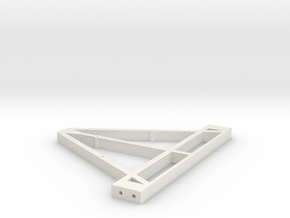Front Triangle for Trailer Chassis 1/10 scale in White Natural Versatile Plastic