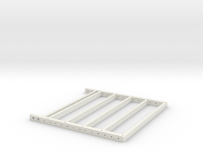 Trailer Rear section 1/10 scale in White Natural Versatile Plastic
