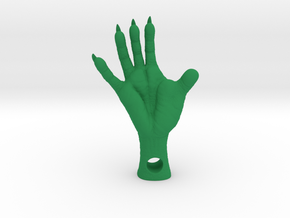 Opossum Foot,  1.5-Inch - 4mm hole-Plastics in Green Processed Versatile Plastic