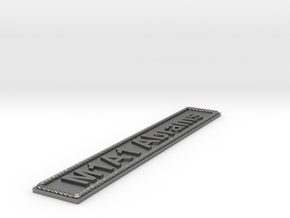 Nameplate M1A1 Abrams in Natural Silver