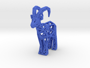 Ibex (adult male) in Blue Processed Versatile Plastic