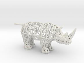 White Rhinoceros (adult) in White Premium Versatile Plastic