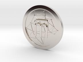 WestarcticaCoin Cryptocoin in Rhodium Plated Brass