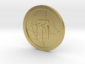 WestarcticaCoin Cryptocoin in Natural Brass
