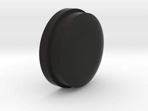 V3 Button in Black Natural Versatile Plastic