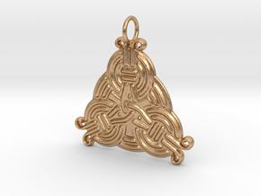 Borre Style Trinity Pendant in Natural Bronze