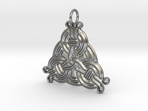 Borre Style Trinity Pendant in Natural Silver