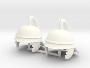 GAUL HELMET 9 x2 in White Processed Versatile Plastic
