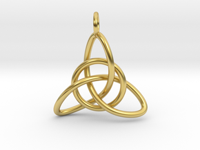 Celtic Knot in Polished Brass (Interlocking Parts)