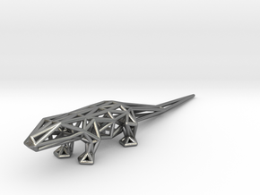 Lizard in Natural Silver